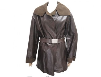 Chanel Brown Leather Trench coats