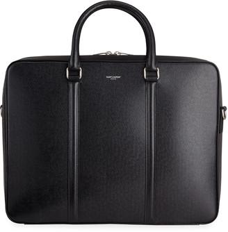 Saint Laurent Men's Saffiano Leather Briefcase