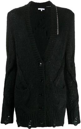 Patrizia Pepe Chunky-Knit V-Neck Cardigan