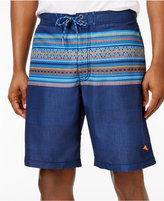 Tommy Bahama Men's Drawstring Skyros Striped Sun Protection 30 Swim Trunks