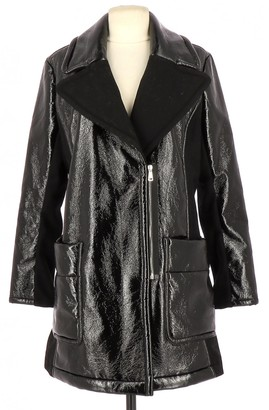 Sonia Rykiel Sonia By Black Leather Coat for Women
