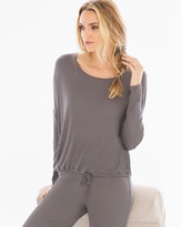 Soma Intimates Luxe Ribbed Pullover Lounge Top