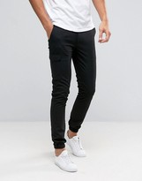 Asos Super Skinny Smart Joggers With Cargo Pockets