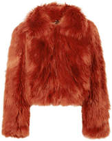 Maison Margiela Faux Fur Jacket - Orange