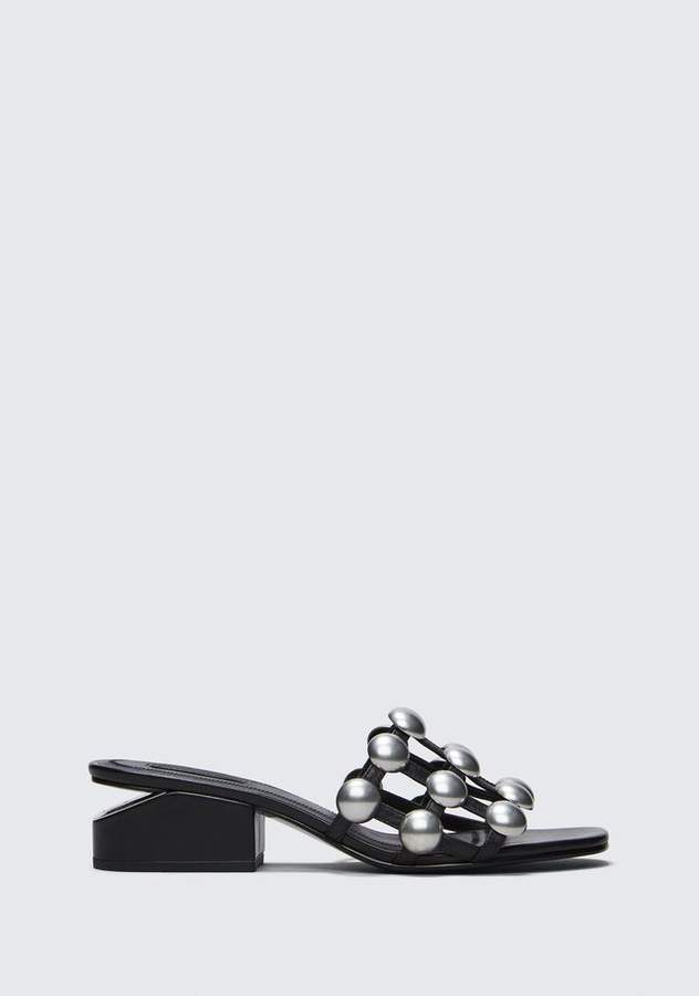 Alexander Wang DOME STUD LOU WITH RHODIUM FLATS