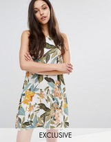 Warehouse Tropical Garden Swing Dress