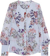 Erdem Azzura Floral-print Silk-voile Blouse