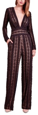 SHO Deep-v Lace Jumpsuit