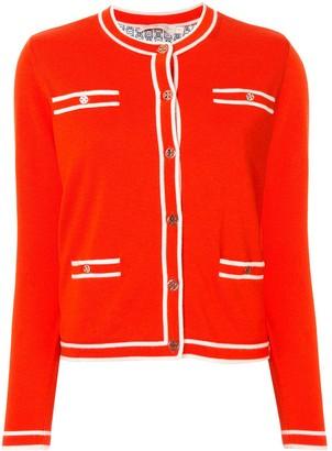Tory Burch Kendra contrast-trimmed cardigan