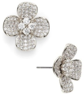 Eliot Danori Cubic Zirconia Pave Flower Stud Earrings, Created for Macy's
