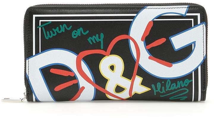 Dolce & Gabbana Zip-around Calfskin Wallet