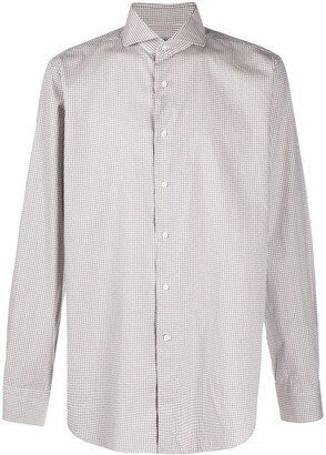 Canali Checked-Print Cotton Shirt