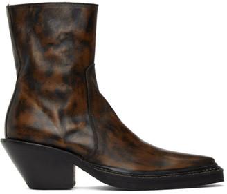 Acne Studios Brown Western Heeled Boots