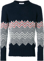 Thom Browne geometric panel sweatshirt