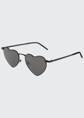 Saint Laurent Lou Lou Heart-Shaped Metal Sunglasses