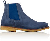 Barneys New York MEN'S CREPE-SOLE CHELSEA BOOTS-NAVY SIZE 9.5 M