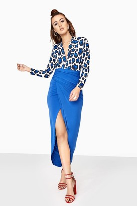 Linzi Leopard Split Dress