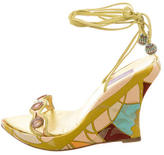 Emilio Pucci Crystal Embellished Wedges