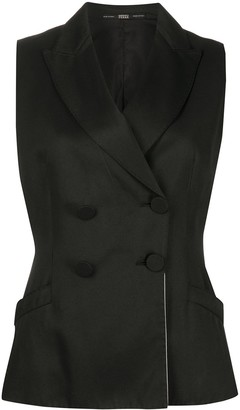 Gianfranco Ferré Pre Owned 1990s Slim-Fit Double-Breasted Waistcoat