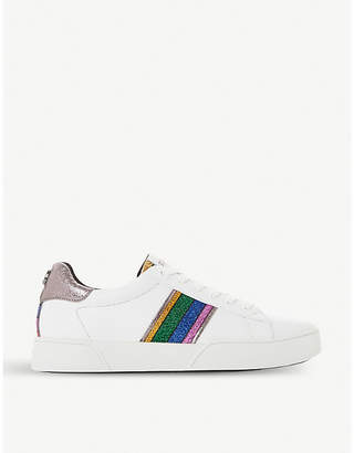 Dune Elsie leather low-top trainers