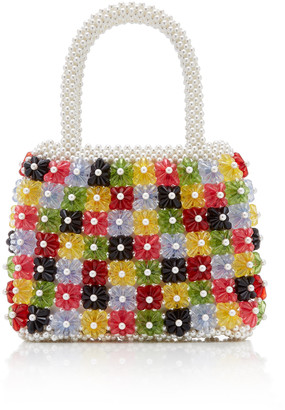 Shrimps Avery Multi-Color Beaded Top-Handle Bag