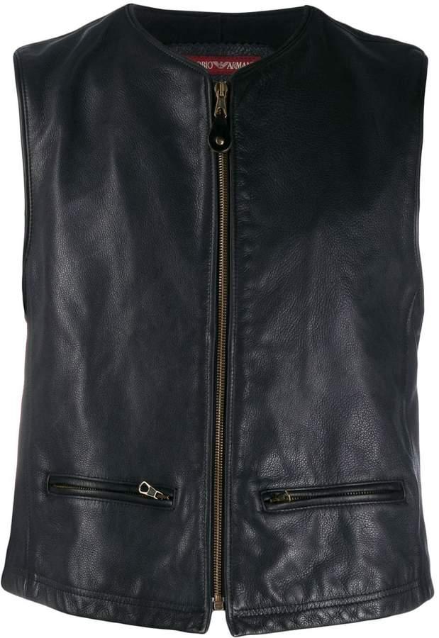 Giorgio Armani Pre-Owned 1990's zipped leather vest