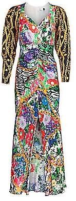 Rixo Women's Madonna Mixed Print Dress