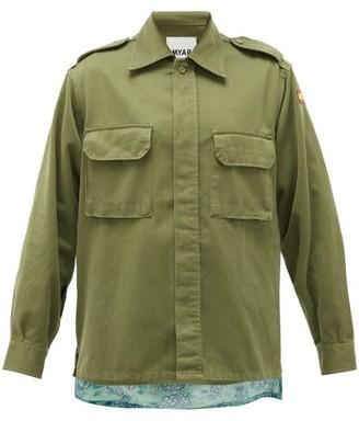 Myar - Hawaiian-panel Upcycled Cotton-blend Jacket - Khaki