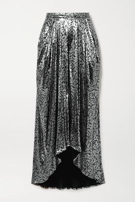 Isabel Marant Draped Lame Midi Skirt - Silver