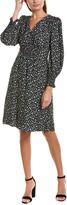 Rebecca Taylor Zelma Floral Silk A-Line Dress