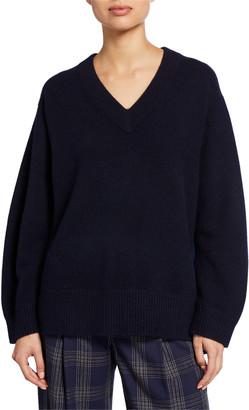 Vince V-Neck Long-Sleeve Cashmere Tunic