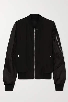 Rick Owens Cady And Shell Bomber Jacket - Black