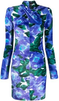 Richard Quinn Watercolour Print Mini Dress