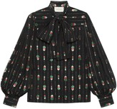 Gucci Viscose shirt with fil coupe