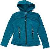 Roper Peacock Blue & Black Hooded Jacket - Girls