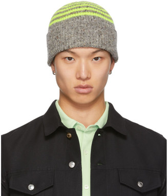 Paul Smith Grey and Yellow Wool Beanie