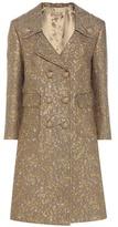 Michael Kors Metallic Wool-blend Jacquard Coat