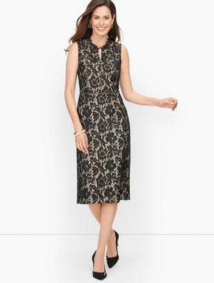 Talbots Autumn Lace Sleeveless Dress