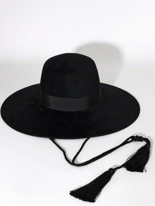 Gucci LVR EXCLUSIVE BLACK FELT HAT W/TASSEL