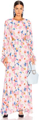 STAUD Georgia Dress in Abstract Peach Blossom | FWRD