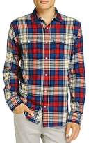 Flag & Anthem Plaid Long Sleeve Flannel Button-Down Shirt - 100% Exclusive