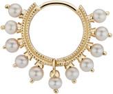 Maria Tash Single 8MM Yellow Gold Pearl Coronet Ring