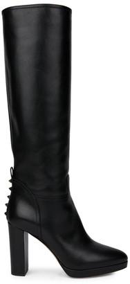 Valentino Rockstud Tall Leather Boots
