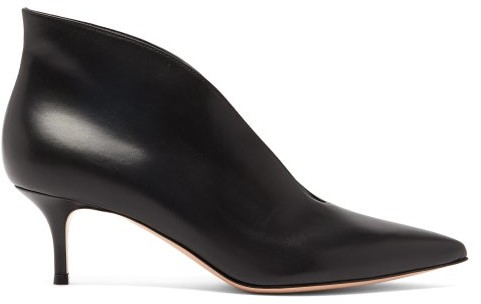Gianvito Rossi Vania 55 Leather Ankle Boots - Womens - Black