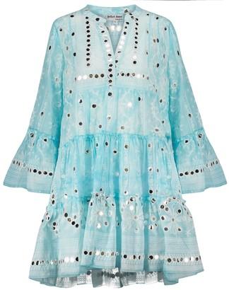 Juliet Dunn Tie-dye cotton minidress