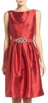 Eliza J Women's Taffeta Fit & Flare Dress
