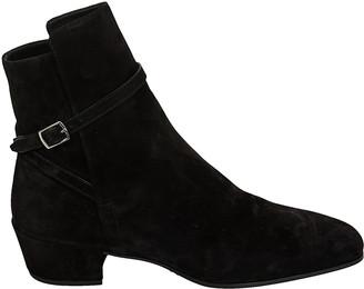 Saint Laurent Side-buckled Ankle Boots
