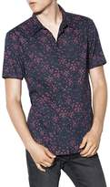 John Varvatos Dragonfly Print Mayfield Slim Fit Button-Down Shirt