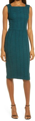 Dress the Population Donada Stretch Tweed Sheath Dress