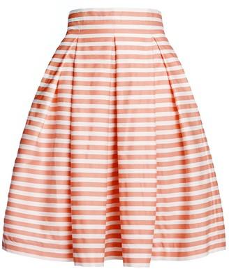 Rumour London Amalfi Coral Striped Midi Skirt